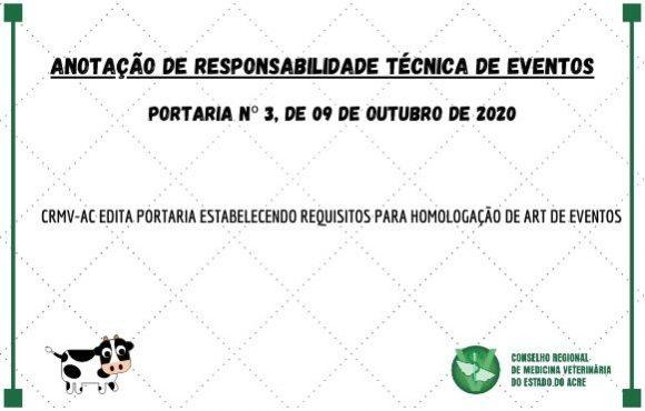 ANOTAÇÃO DE RESPONSABILIDADE TÉCNICA DE EVENTOS
